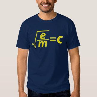 Einstein was wrong! t shirts