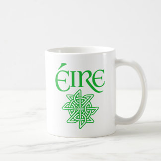 Éire Decorative Celtic Knot Pattern Irish Coffee Mug