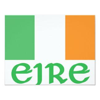 "EIRE Irish Flag 4.25"" X 5.5"" Invitation Card"