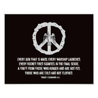 Eisenhower Quotation Peace Poster Print