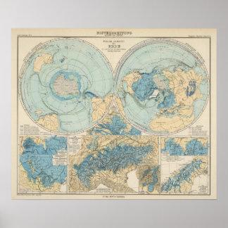 Eisverbreitung Atlas Map Poster