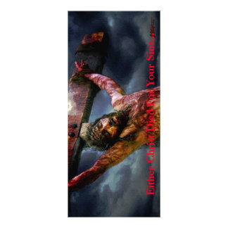 Either Christ Died... 4 Inch x 9 Inch Tract 10 Cm X 23 Cm Rack Card