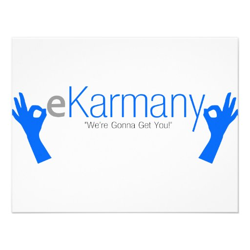 """eKarmany- """"We're Gonna Get You!"""" Personalized Invites"""
