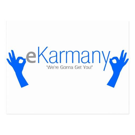 "eKarmany- ""We're Gonna Get You!"" Post Card"