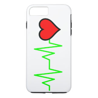 EKG Cardiogram Heart iPhone 8 Plus/7 Plus Case
