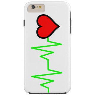 EKG Cardiogram Heart Tough iPhone 6 Plus Case