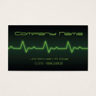 EKG Neon Business Card