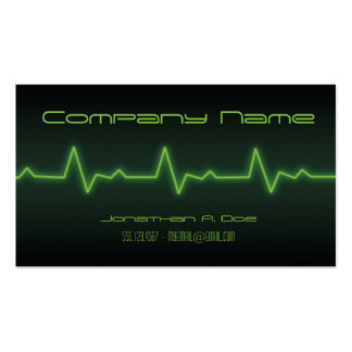 EKG Neon Pack Of Standard Business Cards