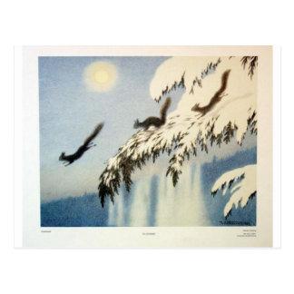 Ekorn i Flukt by Theodor Severin Kittelsen Postcard