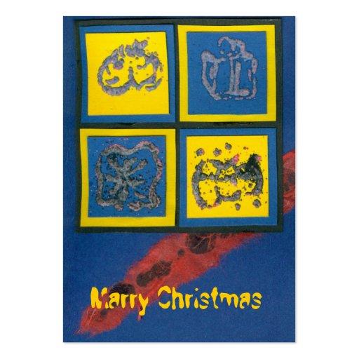 ekos blue Merry Christmas Gift Tag Business Card
