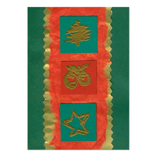 ekos green Merry Christmas Gift Tag Business Cards