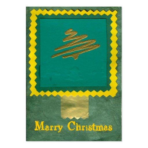 ekos green-yellow Merry Christmas Gift Tag Business Card