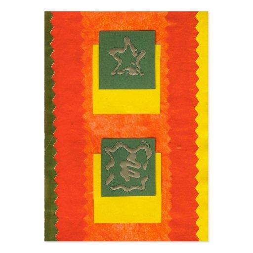 ekos orange Merry Christmas Gift Tag Business Card
