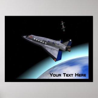 El Al Space Shuttle Poster