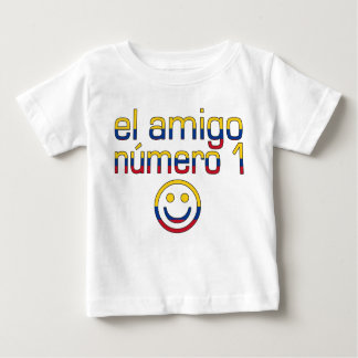 El Amigo Número 1 in Colombian Flag Colors 4 Boys Baby T-Shirt
