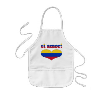 El Amor! - Love in Venezuelan Valentine's Day Kids' Apron