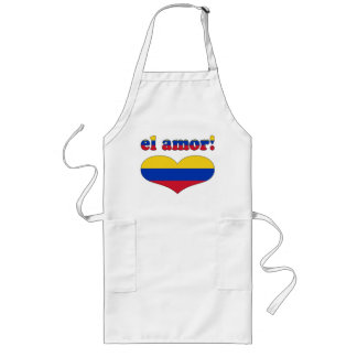 El Amor! - Love in Venezuelan Valentine's Day Long Apron
