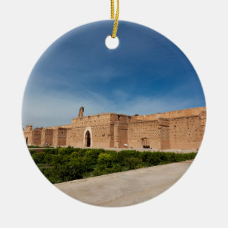 El Badi Palace, Marrakech, Morocco Ceramic Ornament