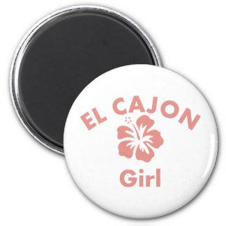 El Cajon Pink Girl Magnets
