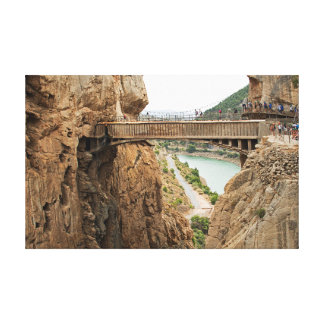El Caminito del Rey. View 2 Bridge over the abyss. Canvas Print