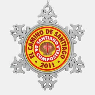 El Camino De Santiago 2011 Pewter Snowflake Decoration