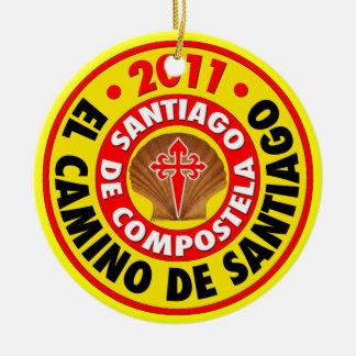 El Camino de Santiago 2011 Round Ceramic Decoration