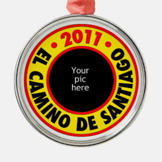 El Camino de Santiago 2011 Silver-Colored Round Decoration