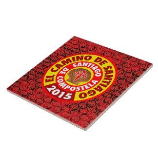 El Camino de Santiago 2015 Large Square Tile