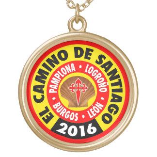 El Camino de Santiago 2016 Gold Plated Necklace