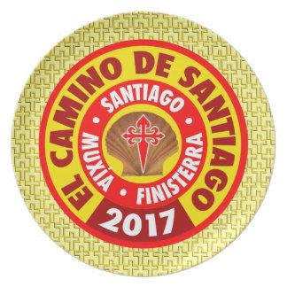 El Camino de Santiago 2017 Plate