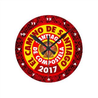 El Camino De Santiago 2017 Round Clock