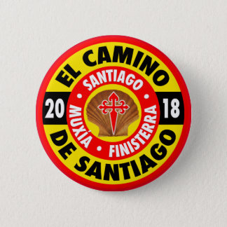 El Camino de Santiago 2018 6 Cm Round Badge