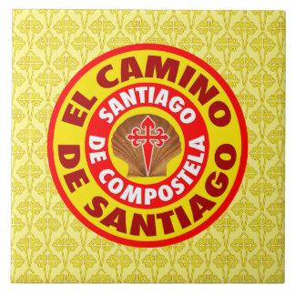 El Camino de Santiago Large Square Tile