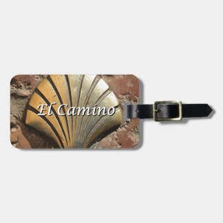 El Camino gold shell, Leon (caption) Luggage Tag