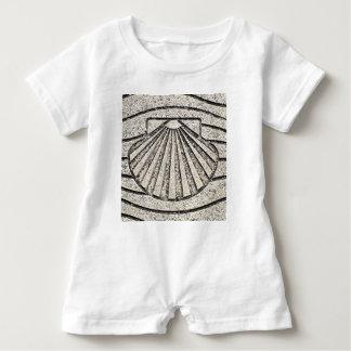 El Camino shell, pavement, Spain Baby Bodysuit