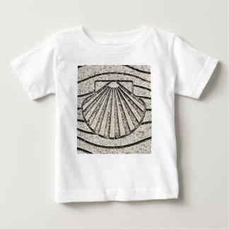 El Camino shell, pavement, Spain Baby T-Shirt