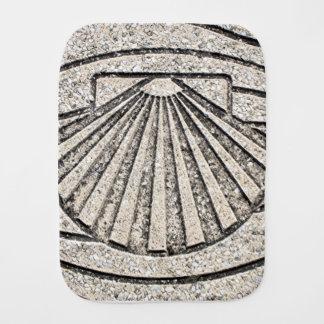 El Camino shell, pavement, Spain Burp Cloth