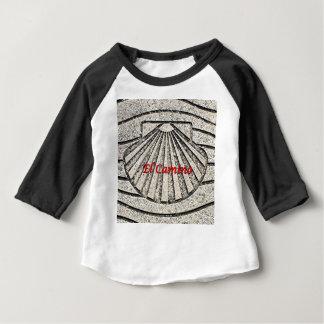 El Camino shell, pavement, Spain (caption) Baby T-Shirt