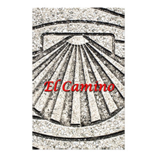 El Camino shell, pavement, Spain (caption) Stationery