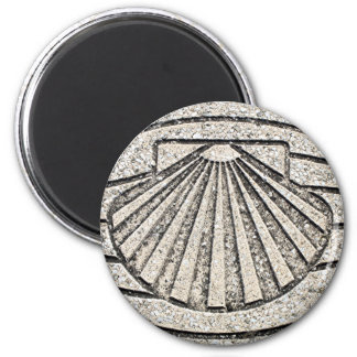El Camino shell, pavement, Spain Magnet