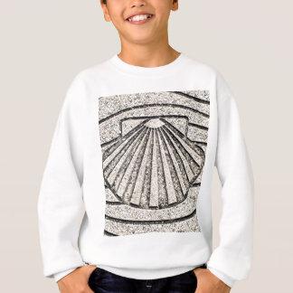 El Camino shell, pavement, Spain Sweatshirt