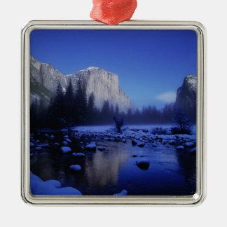 El Capitan Mountain, Yosemite National Park, Metal Ornament