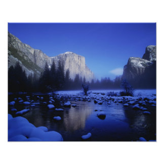 El Capitan Mountain, Yosemite National Park, Photo Print