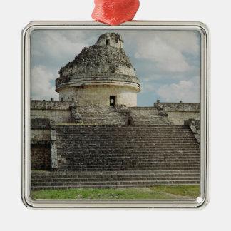 El Caracol Silver-Colored Square Decoration