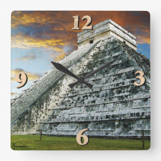 El Castillo Square Wall Clock