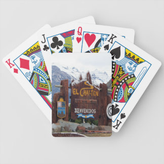 El Chalten, Patagonia, Argentina Bicycle Playing Cards
