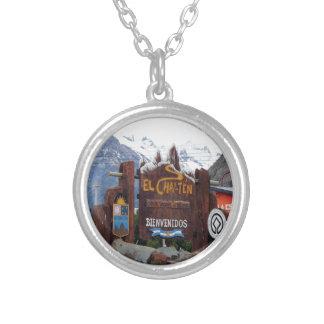 El Chalten, Patagonia, Argentina Silver Plated Necklace
