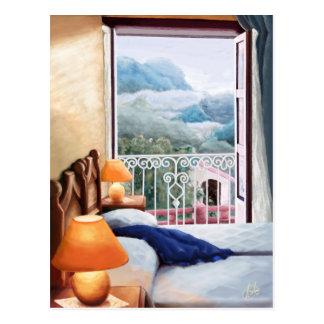 El cojín azul / The blue pillow. Postcard