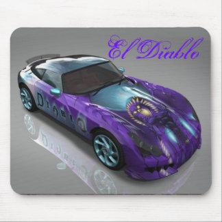 El Diablo Purple Devil Racing Car Mousepad