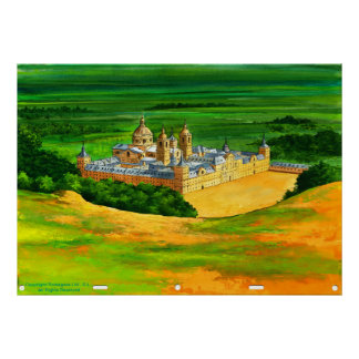 El Escorial - as seen from Monte Abantos Poster